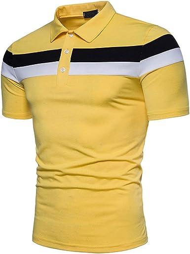 Memoryee Polos de Manga Corta para Hombres Camisas de algodón con ...