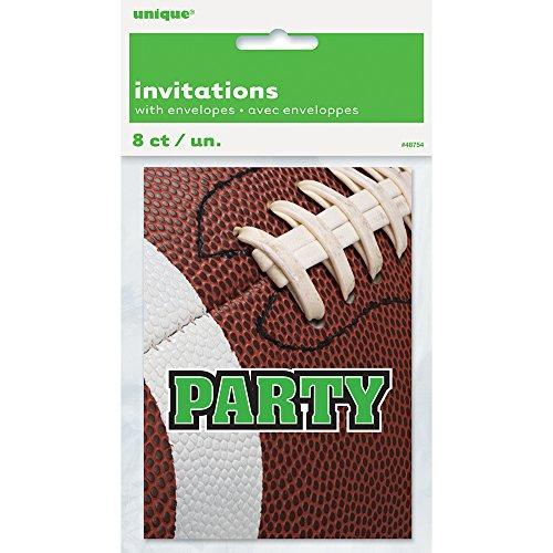 Football Invitations, 8ct (4 People Costume Ideas)