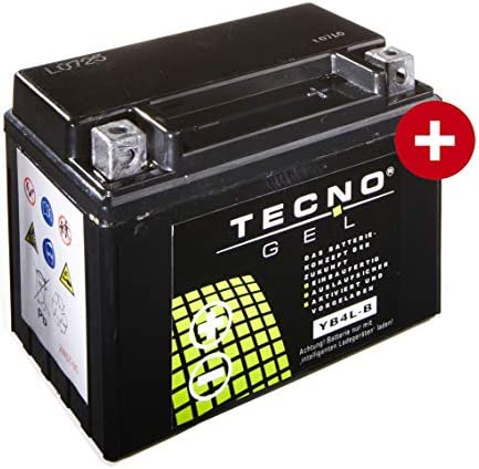 Tecno Gel Motorrad Batterie Yb4l B 12v Gel Batterie 5ah Din 50411 120x71x91 Mm Inkl Pfand Auto