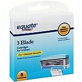 Equate 3 Bladed 8 pack of razors fits Gillette Venus handles not Venus Simply handles