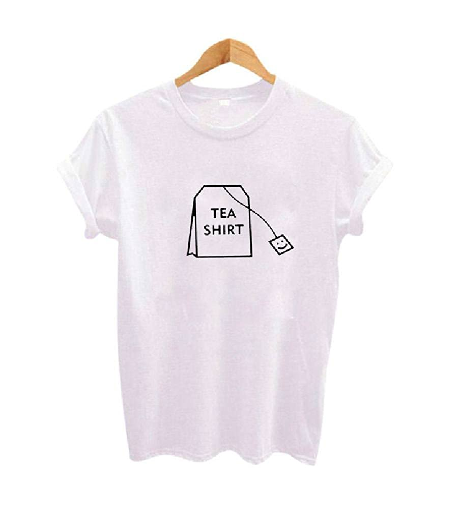 Amazon.com: TEEN fashion Women Cute Humor Tea Shirt Graphic Tees Clothing  Summer Funny Tumblr Hipster Ladies T-Shirt: Clothing
