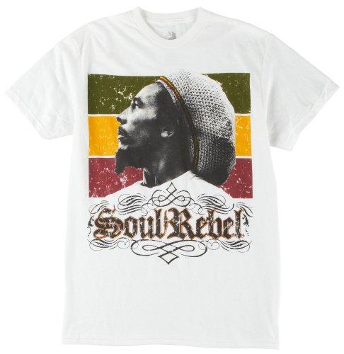 (Bob Marley Men's Soul Rebel T-shirt X-Large White)