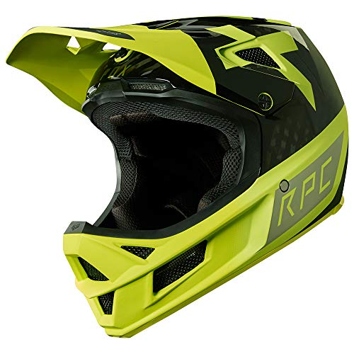 - Fox Racing Rampage Pro Carbon MIPS Helmet Preest Yellow/Black, M