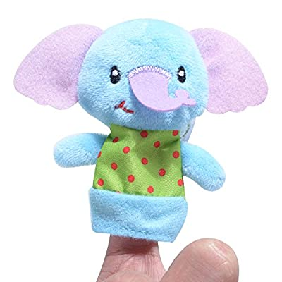 XIANG 5 Pics Different CartoonVelvet SmallAnimals Recognize Finger Toys Finger Puppets for Infants Baby Kids Anxiety Stress ReliefGift for Kids: Home & Kitchen