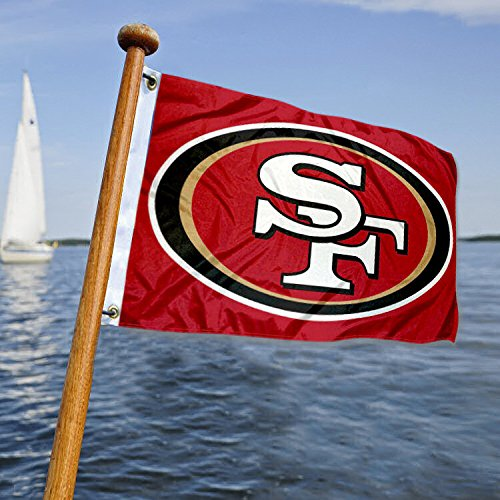 WinCraft San Francisco 49ers Boat and Golf Cart Flag ()