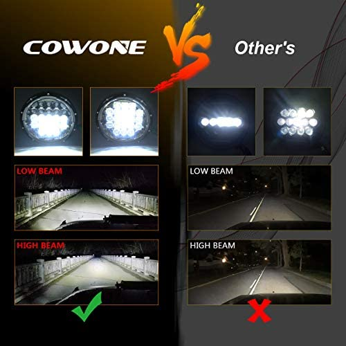 4 Cree LED Fog Lights for Jeep Wrangler 97-2017 JK TJ LJ COWONE 130w Philip 7 LED Headlights