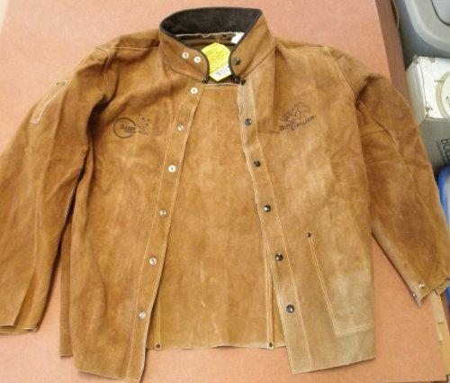 Leather welding jacket