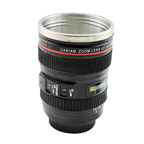 ixaer Hot Sale Stainless Lens Thermos Camera Travel Coffee Tea Mug Cup by ixaer (Image #2)