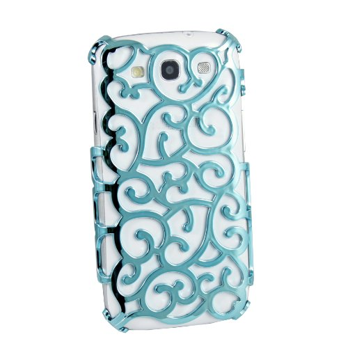 New Grapevines Hollow Vines Hard Back Case for Samsung Galaxy S3 i9300 - Cyan