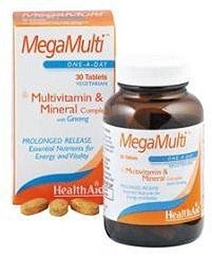 Megamulti con Ginseng 30 comprimidos de Health Aid: Amazon ...