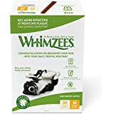 Whimzees 30 Day Pack Dog Dental Treats, Medium Stix, Pack Of 30