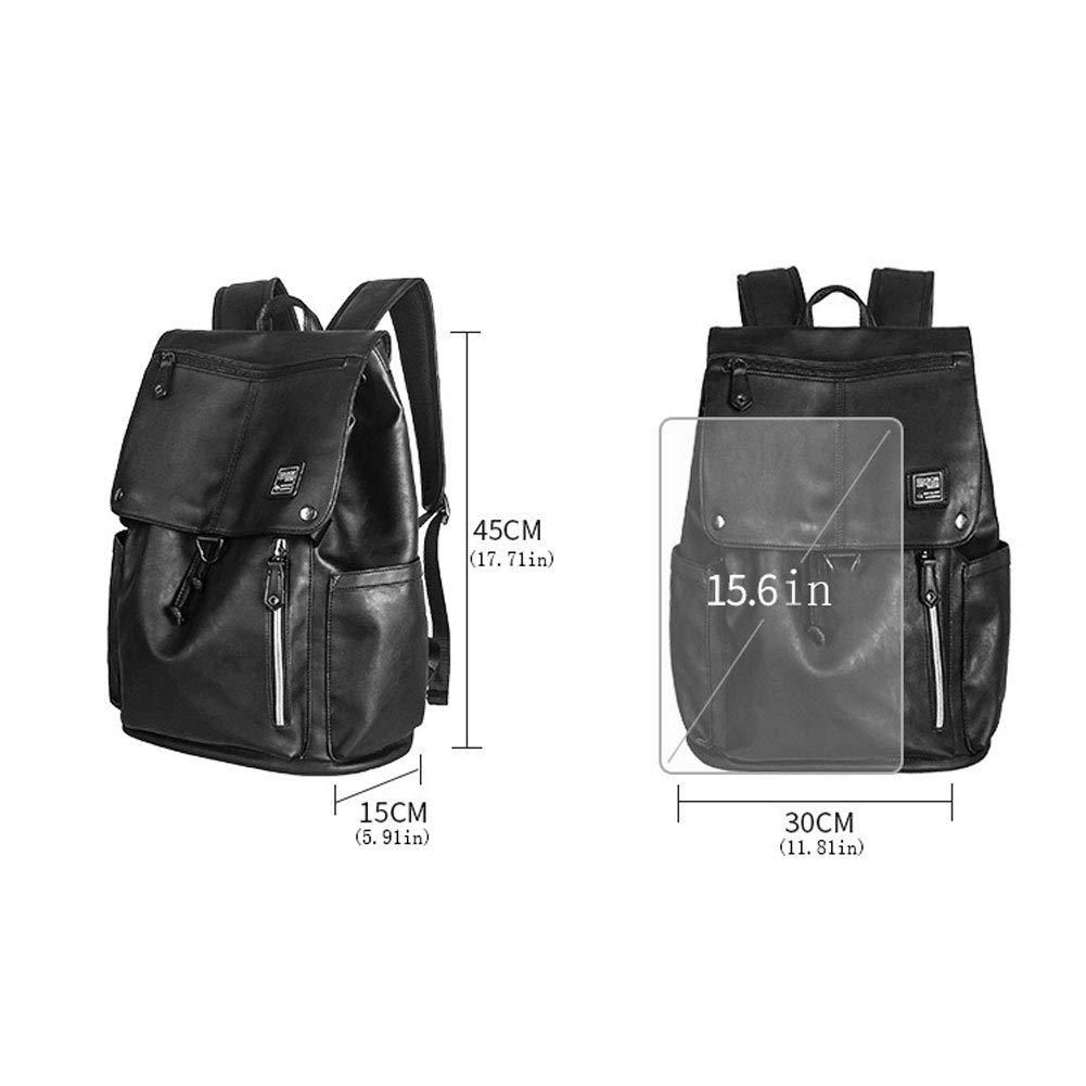 LongLong Computer Bag Fashion Trend Backpack Male 15.6 Inch Waterproof Backpack Large Capacity,Black,453015