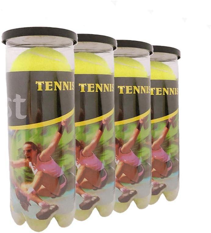 Goonidy Tennis Ball Single Three Ball Pressurized Can Standard Pressure Training Tennis Balls Rebound 53 to 58 in
