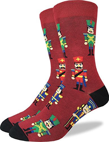 Good Luck Sock Men's Nutcracker Crew Socks - Red, Adult Shoe Size 7-12 ()