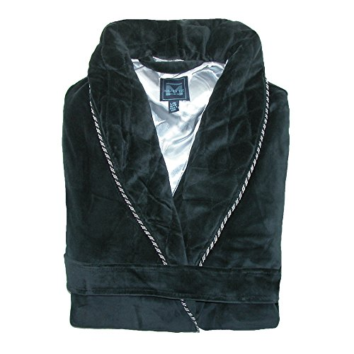 Majestic International Men's Satin Lined Smoking Jacket, Small / Medium, Black by Majestic International