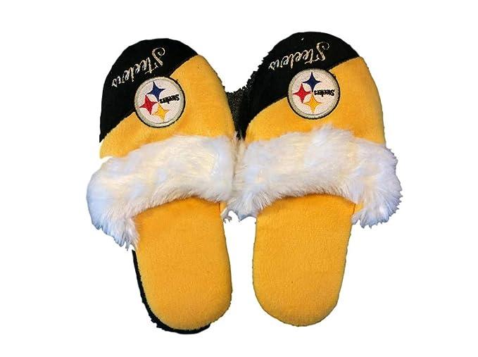32a0dcba Amazon.com : FC Pittsburgh Steelers Women's Team Logo Name Cursive ...