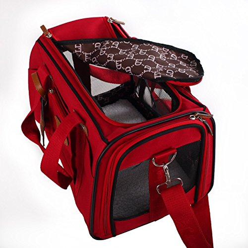 Cheap Soft Sided Pet Travel Carrier Airline Approved Pet Portable handBag for Dogs Cats and Puppies Red