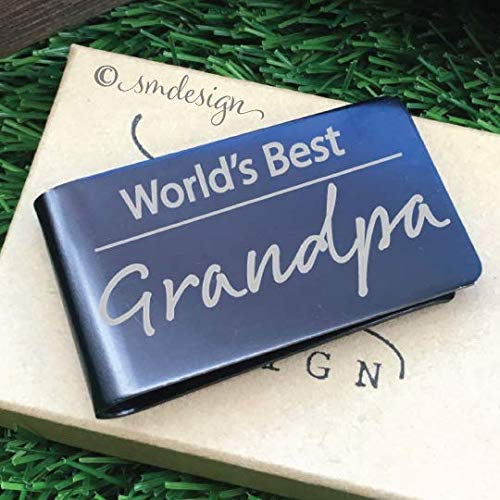 World's Best Money Clip- Gift For The Greatest Grandpa Fathers Day Gift Custom Wallet For The Best Stepdad Ever Engraved Money Clip Papa Dad