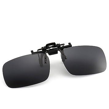 Douerye Gafas De Sol Polarizadas Clip Gafas De Sol Masculinas Gafas De Moda Salvaje Gafas De Visión Nocturna De Pesca,Black: Amazon.es: Deportes y aire ...