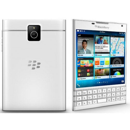 "BlackBerry Passport Factory Unlocked Cellphone 4.5"" 32GB 13MP (White) - International Version No Warranty"