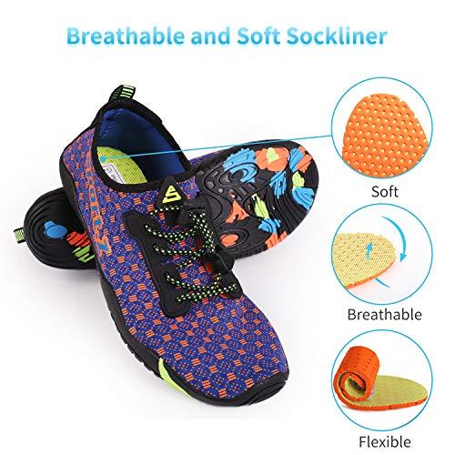 Women Quick Blue Aqua Socks Swim Shoes Z Sports amp; thick Swim Men Barefoot Heeta Shoes for Water Dry Beach Orange TIWAcnY