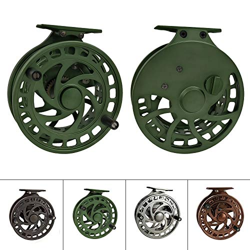 tion High Reel Feet CenterPin Float Fishing Reel CNC machined Easy Line Through (Green) ()