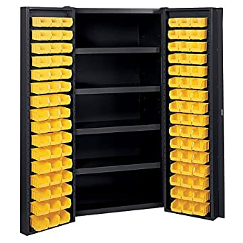 Captivating Edsal Manufacturing BC6202BLK Industrial Bin Storage Cabinet