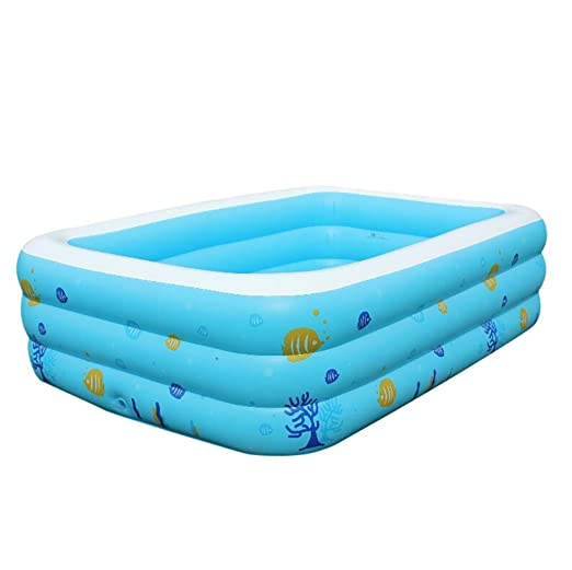 IGEMY Piscina rectangular hinchable para familia, hinchable ...