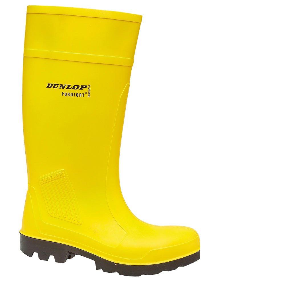 - Dunlop C462241 Purofort Safety Wellingtons - Yellow - Mens