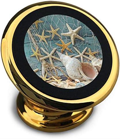 貝殻巻貝ヒトデ 携帯電話ホルダー おしゃれ 車載ホルダー 人気 磁気ホルダー 大きな吸引力 サポートフレーム 落下防止 360度回転