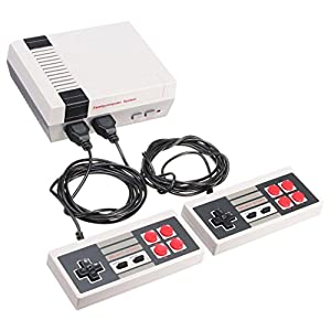 Retro Game,Retro Classic Game Consoles Built-in 600 Childhood Classic Game Dual Control By Dacawin (White)