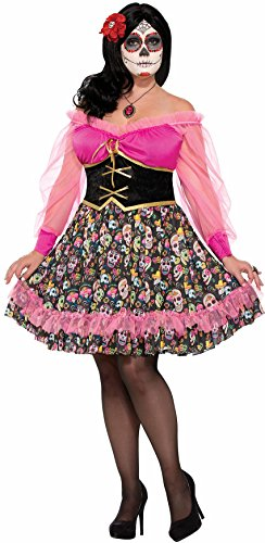 [Forum Novelties Day Of The Dead Lady Plus] (Bag Lady Halloween Costume)