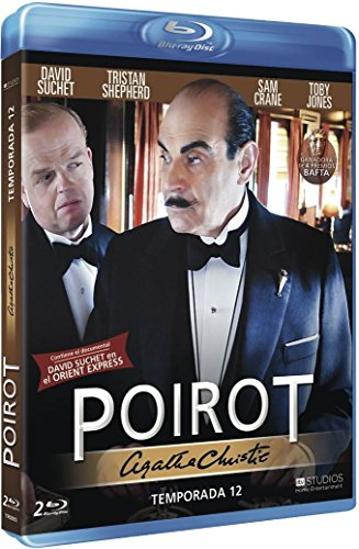 Agatha Christie's Poirot (Season 12) - 2-Disc Set ( The Clocks / Three Act Tragedy / Hallowe'en Party / Murder on the Orient Express ) [ NON-USA FORMAT, Blu-Ray, Reg.B Import - Spain ]]()
