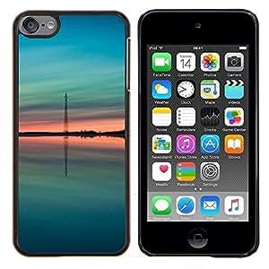 Eason Shop / Premium SLIM PC / Aliminium Casa Carcasa Funda Case Bandera Cover - Teal verde melocotón verano Naturaleza - For Apple iPod Touch 6 6th Touch6