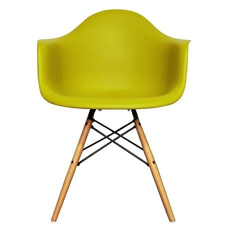 Styleinteriorfurniture Dining Armchair Plastic With Wooden Eiffel