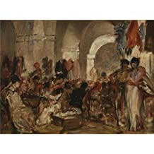 'Cigar Fabricating In Sevilla By Constantin Emile Meunier' Oil Painting, 8x11 Inch / 20x27 Cm ,printed On High Quality Polyster Canvas ,this Vivid Art Decorative Prints On Canvas Is Perfectly Suitalbe For Living Room Decoration And Home Gallery Art And Gifts