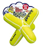 KONG Air Dog Squeaker Jack Dog Toy, Large, Yellow