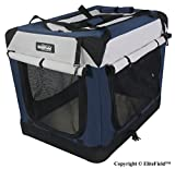 EliteField 3-Door Folding Soft Dog Crate - Indoor & Outdoor Pet Home - Multiple Sizes and Colors Available (42