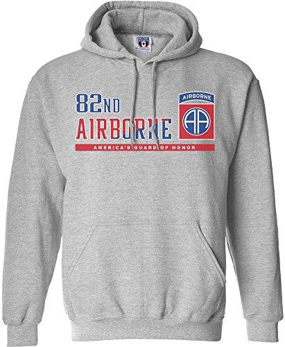 Military Shirts U.S. Army 82nd Airborne Division Varsity Hooded Sweatshirt ()