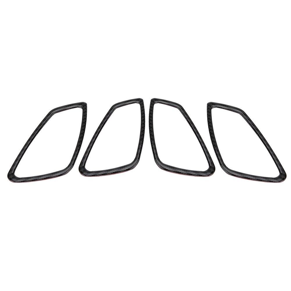 4 unids recortar cubierta de marco de manija de puerta de coche de fibra de carbono, estilo interior manija de la puerta marco pegatina accesorio(2#) Keenso