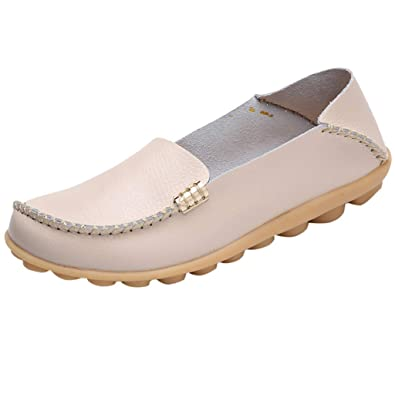 Moonuy Mother Casual Soft Shoes Nurse Tie Flat Ladies Casual