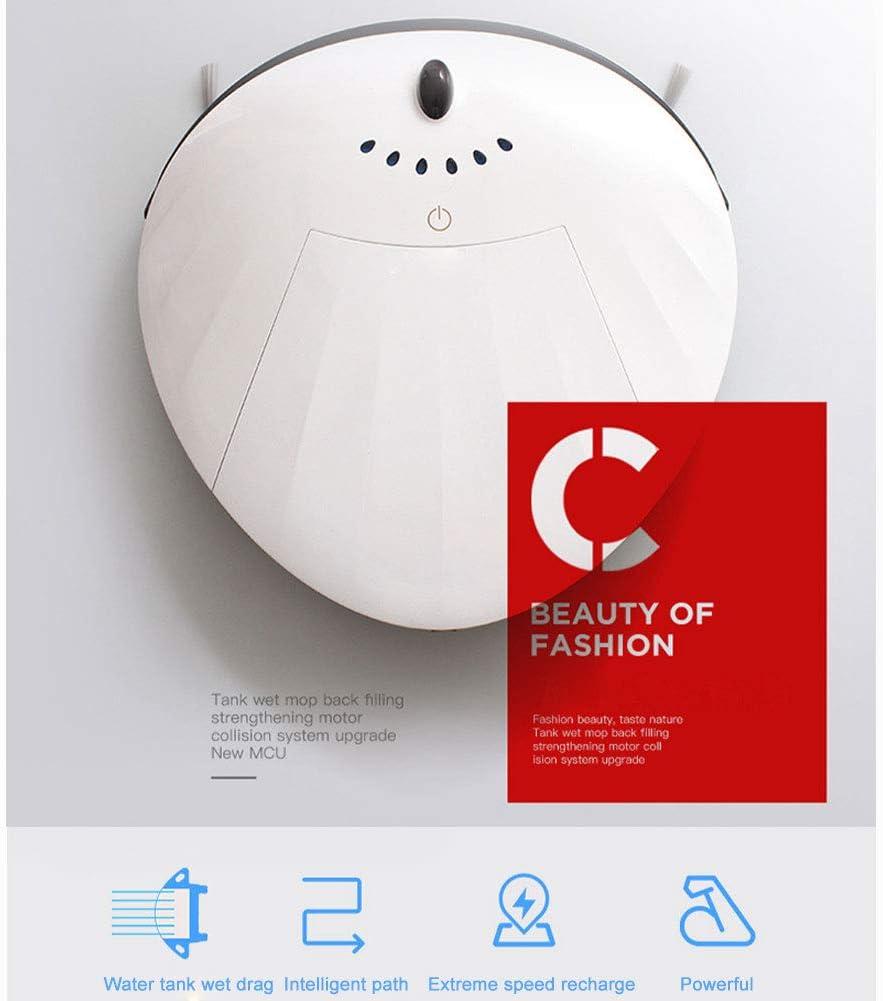 Lapden Creative Shell - Aspirateur, Balai, aspirateur et vadrouille 3 en 1 Ultra-Intelligent pour Robot,Red White