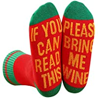 Wine Socks Womens Funny If You Can Read This Christmas Gifts
