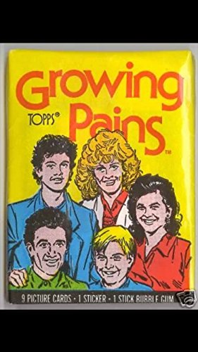 Topps growing pains tv series 1988 (1) unopened wax pack of trading cards (1988 Unopened Trading Card Box)