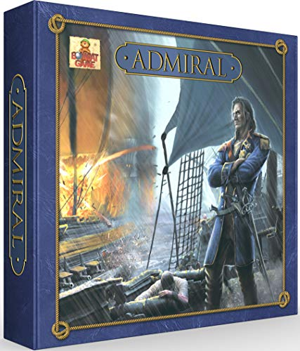 Admiral Largest, Most Detailed Strategy Battleship Board Game for Families & Kids 10 and Up. with 24 Sailing Ships. 30min to 2 Hours. Defeat The Enemy, Capture Treasure, Claim Their Fortress (Ship Sailing Large)