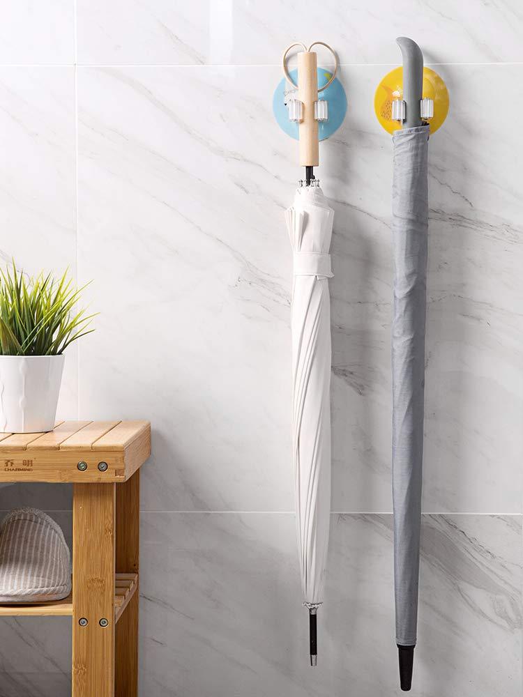 Free Punch Glue Mop Hanger Bathroom Broom Hook Bathroom Paste Wall Hanging No Mop Clip (Calf)