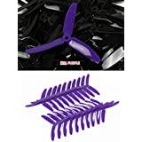 UUMART KingKong 5050 3-Blade Propellers (10 Pairs, 10CW, 10CCW) 5x5x3 Purple Recommended Motor 2204(3-4S),2205(3-4S),2206(3-4S),2207(3-4S),2209(3-4S)