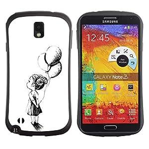 "Hypernova Slim Fit Dual Barniz Protector Caso Case Funda Para Samsung Note 3 [Chica Madre Tinta Negro Blanco""]"