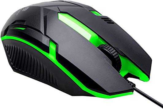 USB Wired Mouse Backlight 3 Button Optical Gaming Mice Ergonomic For Laptop PC A