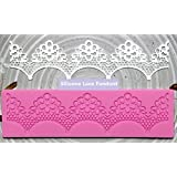 Allforhome Embossing Silicone Lace Fondant Cake Decoration Mold Embossing Flower Decorating Mould
